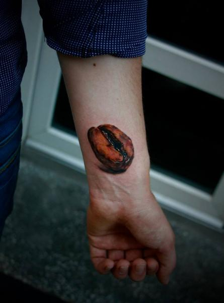 Arm Realistic 3d Coffee Tattoo by 2nd Face