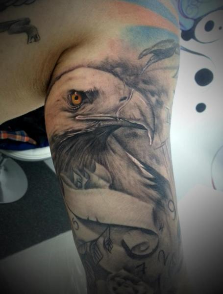 Arm Realistic Eagle Tattoo by 2nd Face