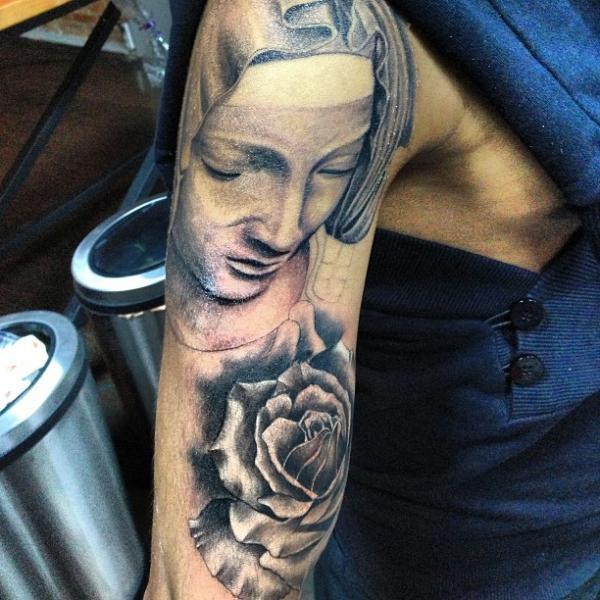 Shoulder Realistic Tattoo by Vaso Vasiko Tattoo