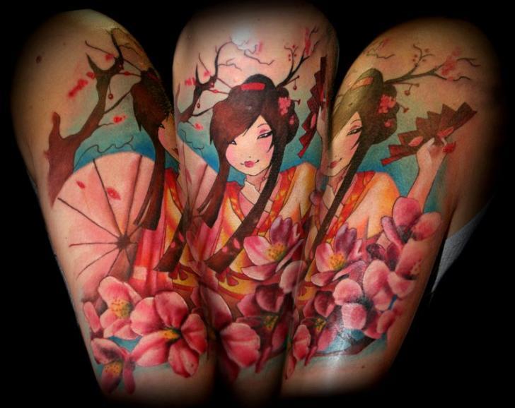 Arm Japanische Geisha Tattoo von SW Tattoo