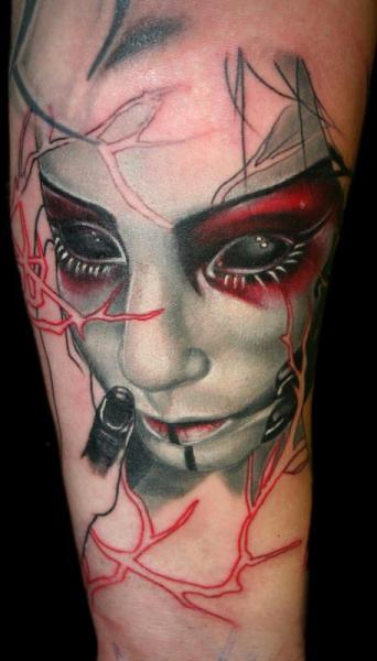 Tatuaje Fantasy Mujer por SW Tattoo