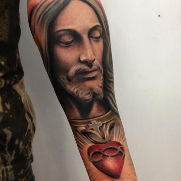 Arm Religious Tattoo by Yomico Art