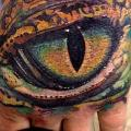 Realistic Hand Eye tattoo by Rember Tattoos