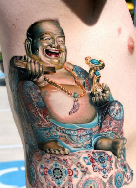 Side Buddha Religious Tattoo by Rember Tattoos