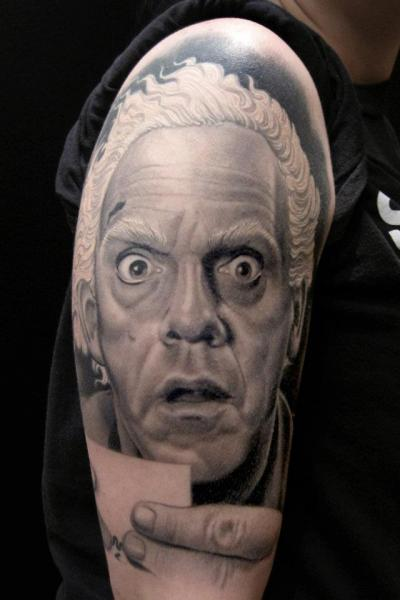Shoulder Realistic Tattoo by Spider Monkey Tattoos