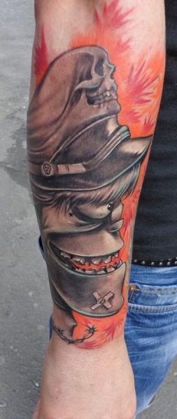 Arm Charakter Tattoo von Bio Art Tattoo