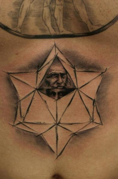 Belly Draw Leonardo Tattoo by Bio Art Tattoo