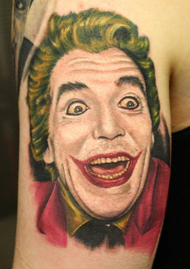 Arm Fantasy Joker Tattoo by Requiem Body Art