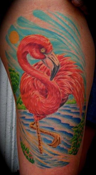 Arm Flamingo Tattoo by Requiem Body Art