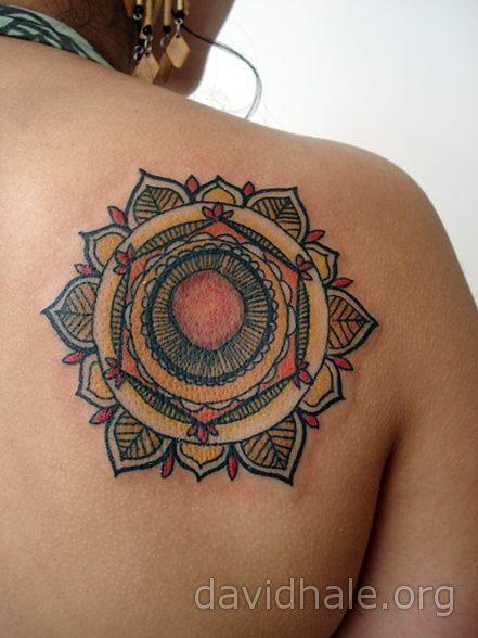 Flower Back Tattoo by David Hale