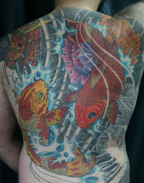 Japanese Back Carp Koi Tattoo by Exclusive Tattoos