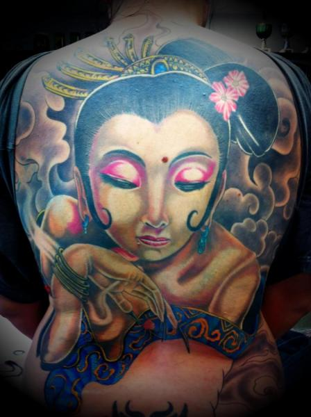 Japanese Women Back Tattoo by Exclusive Tattoos