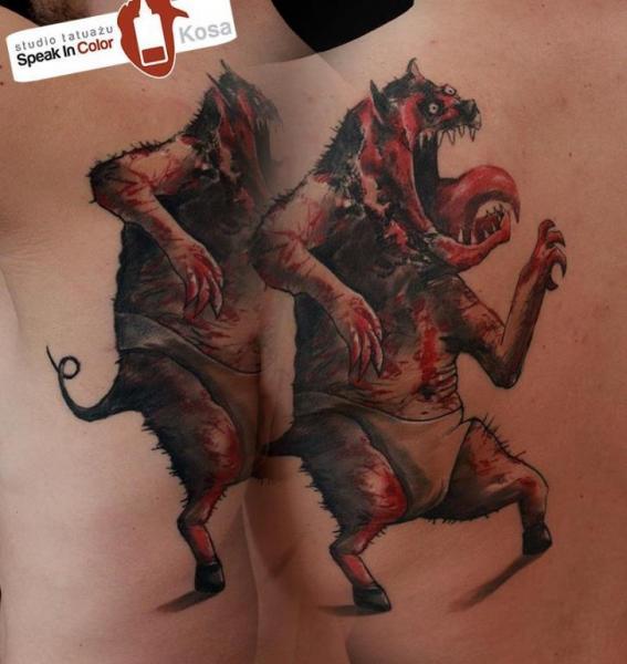 Fantasie Rücken Charakter Tattoo von Speak In Color