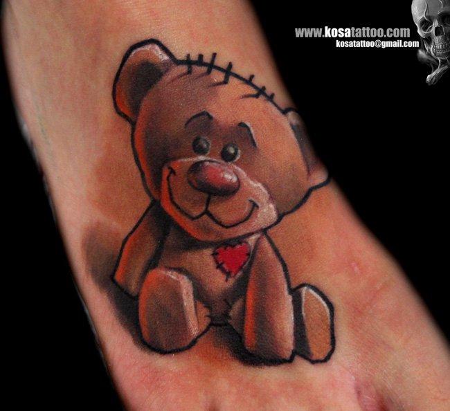 Foot Bear Tattoo by Speak In Color
