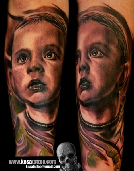 Realistic Children Tattoo by Speak In Color