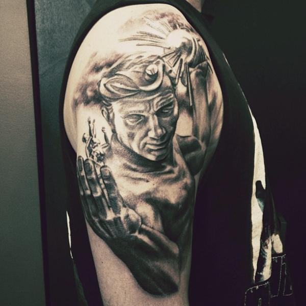 Shoulder Fantasy Tattoo by Allen Tattoo