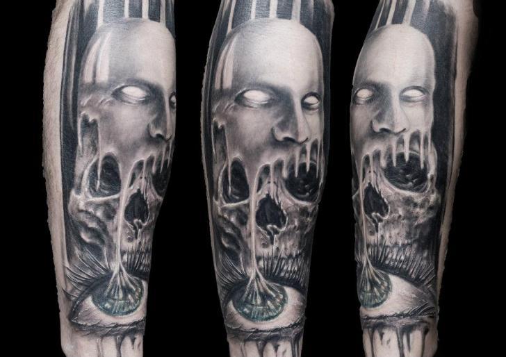 Arm Fantasy Tattoo by Chris Gherman
