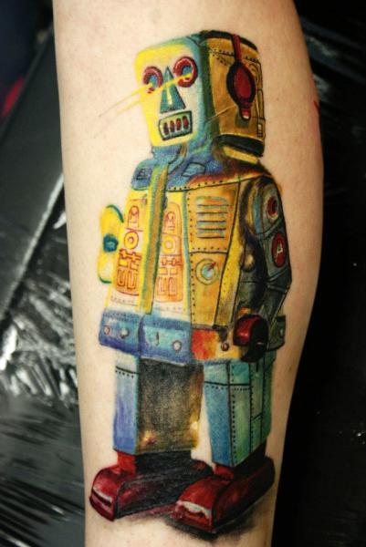 Arm Robot Tattoo by Chris Gherman