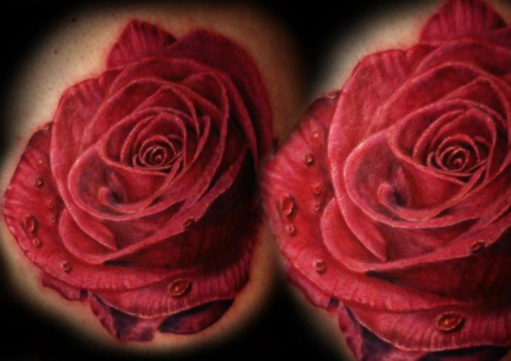 Realistic Flower Tattoo by Chris Gherman