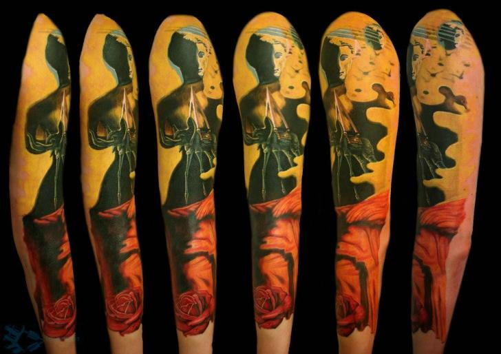 Fantasy Sleeve Tattoo by Chris Gherman