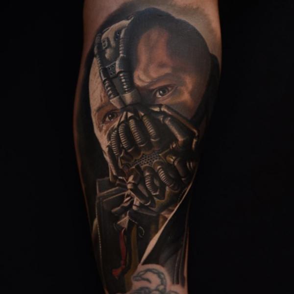Arm Portrait Batman Tattoo by Nikko Hurtado