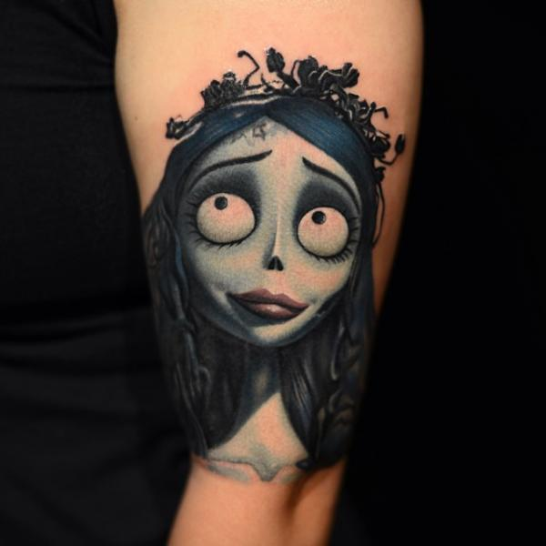 Arm Fantasy Character Tim Burton Tattoo by Nikko Hurtado