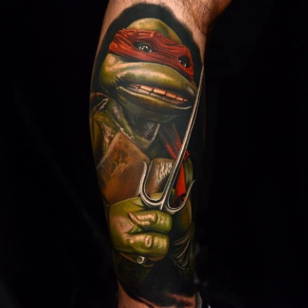 Arm Ninja Turtle Tattoo von Nikko Hurtado