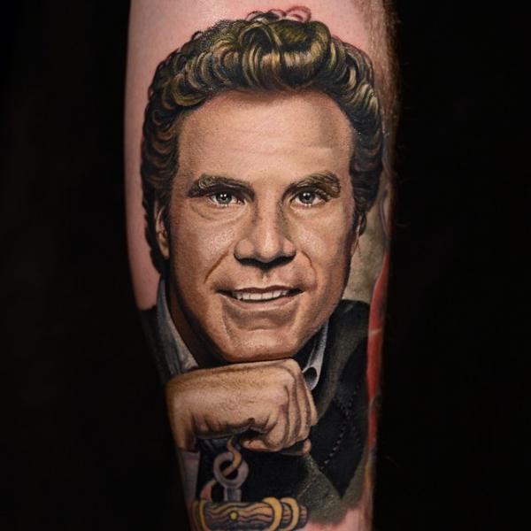 Arm Portrait Realistic Tattoo by Nikko Hurtado