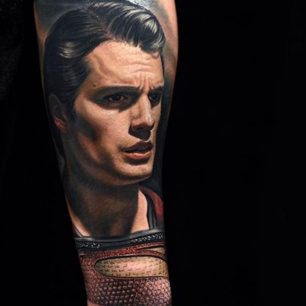 Arm Superheroes Superman Tattoo by Nikko Hurtado