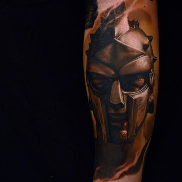 Arm Realistische Krieger Tattoo von Nikko Hurtado