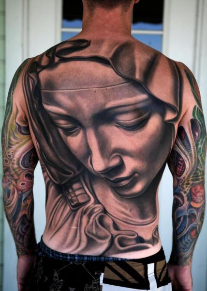 Women Back Tattoo by Nikko Hurtado