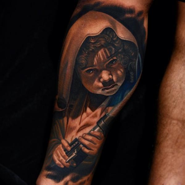 Children Star Wars Tattoo by Nikko Hurtado
