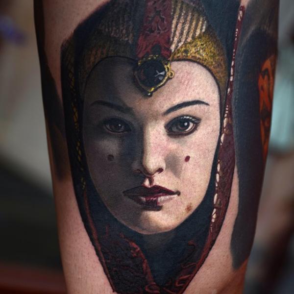 Tatuaggio Ritratti Star Wars di Nikko Hurtado
