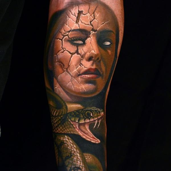 Arm Snake Woman Tattoo by Nikko Hurtado