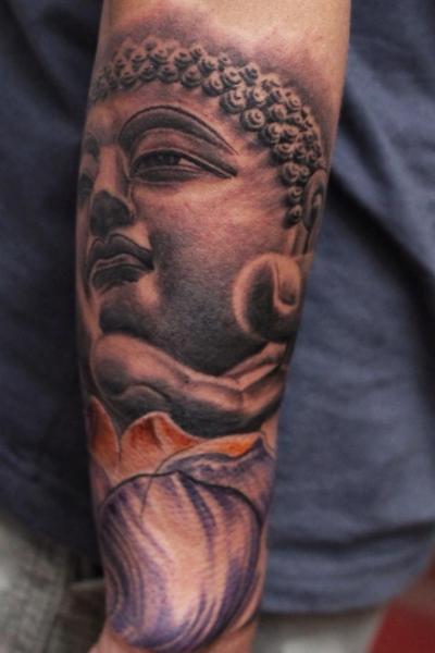 Arm Buddha Tattoo by Ryan Bernardino