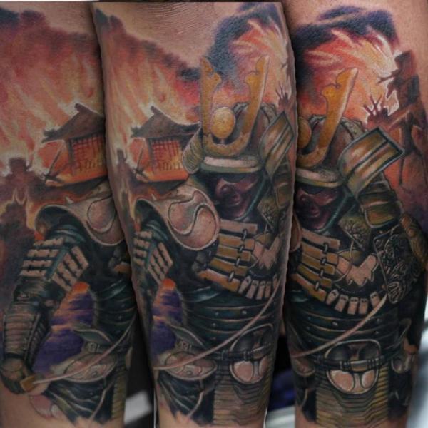 Arm Samurai Tattoo von Ryan Bernardino