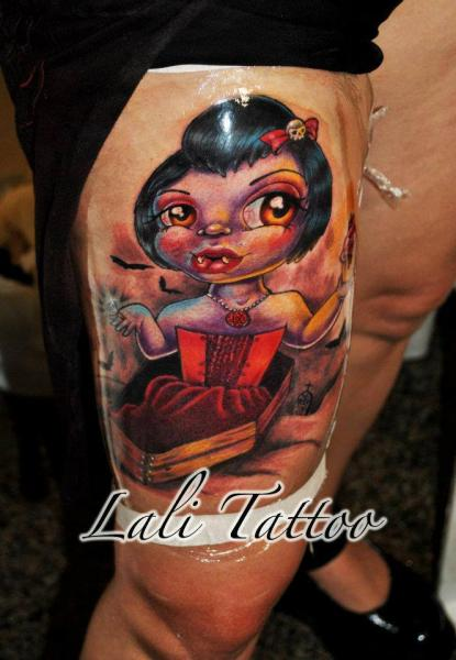 Fantasy Leg Vampire Tattoo by Face Tattoo