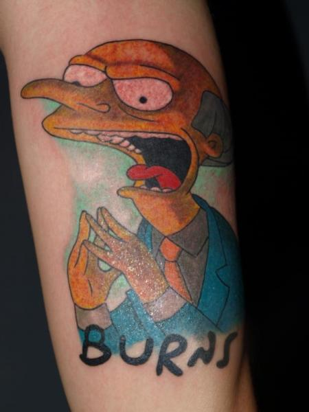 Arm Fantasy Simpson Tattoo by Freaky Colours