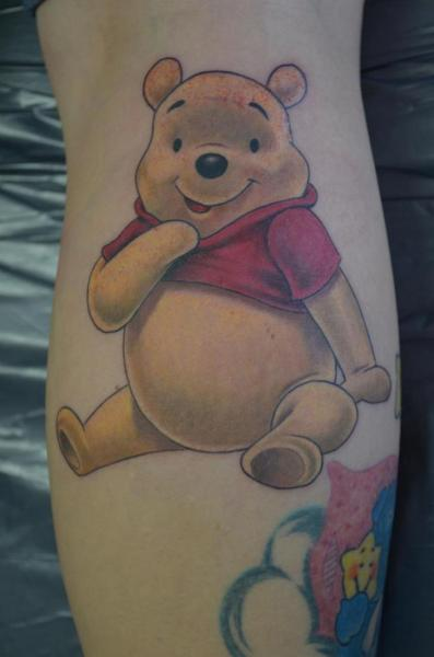 Arm Fantasy Winnie The Pooh Tattoo by Freaky Colours