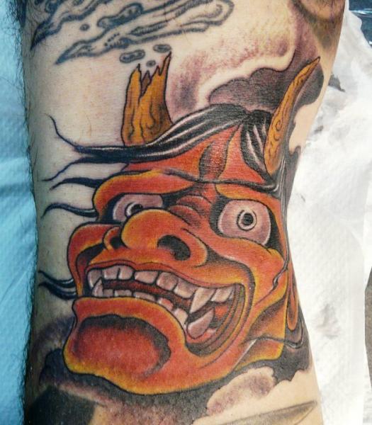 Demon Tattoo by Mandinga Tattoo