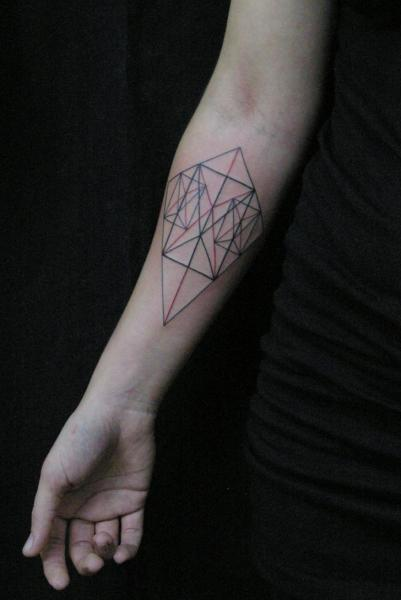 Arm Geometric Tattoo by Salo Tattoo