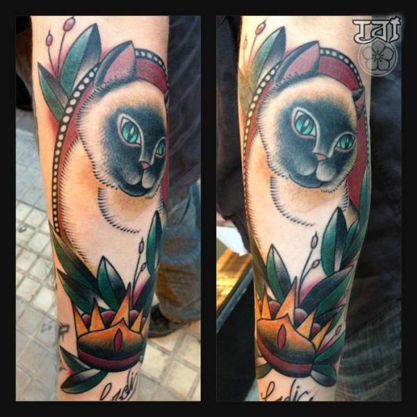 Arm Katzen Tattoo von Tattoo Tai