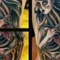 Women Moth tattoo by Tattoo Tai