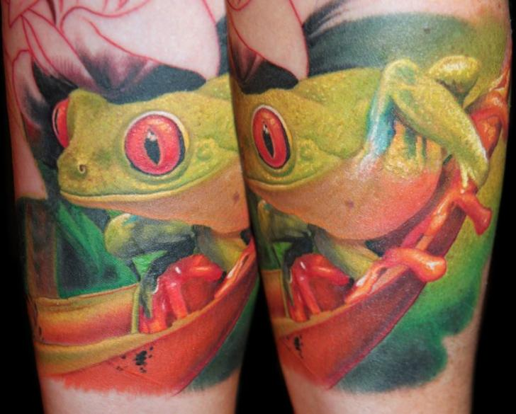 Realistic Frog Tattoo by James Tattoo Art