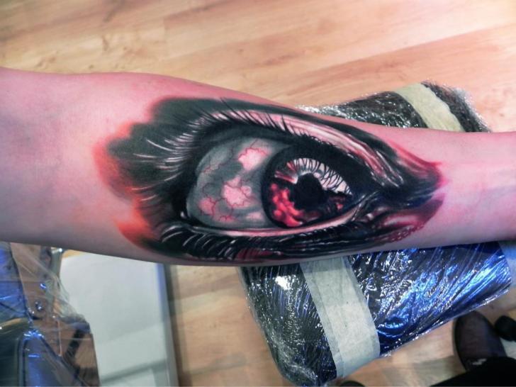 Arm Eye Tattoo by Rock Ink