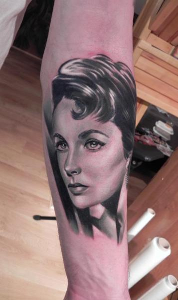 Arm Portrait Realistic Tattoo by Rock Ink