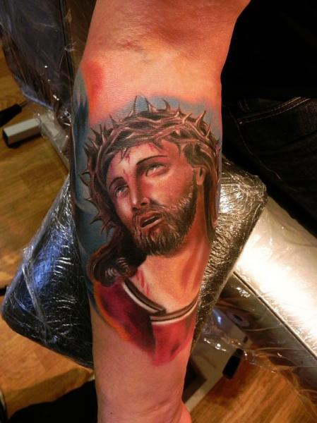 Tatuaje Brazo Religioso por Rock Ink