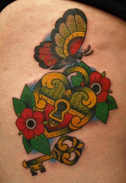 New School Heart Tattoo by No Regrets Studios