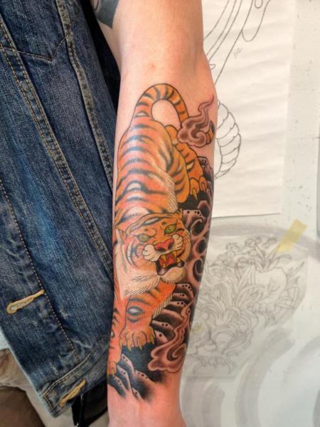 Arm Tiger Tattoo by Seventh Son Tattoo