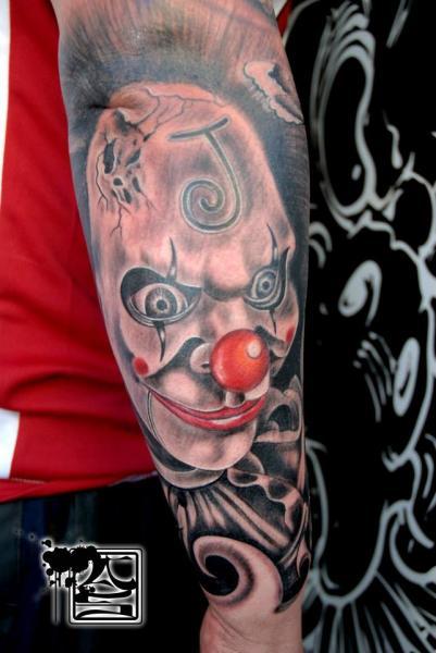 Arm Clown Tattoo by Balinese Tattoo